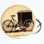 Mens keychain Antique bike