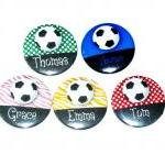 Pinback button badges - Soccer name..