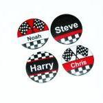 Pinback button badges - Racing Driv..