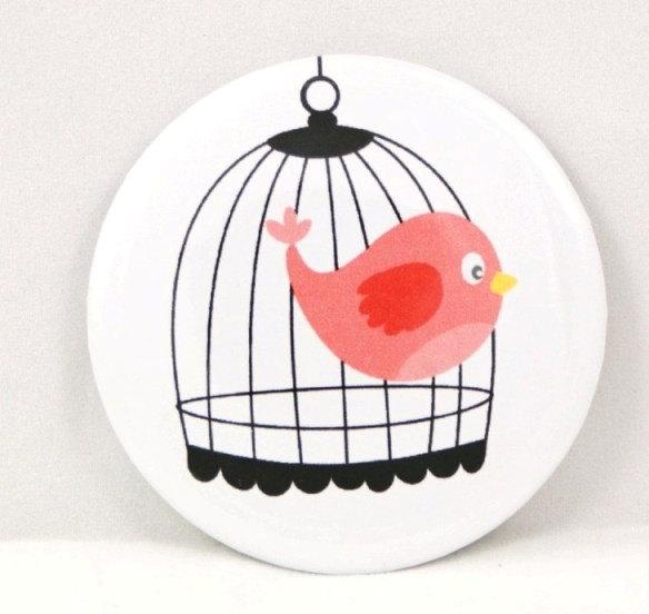 Pocket mirror - Sweet Pink Bird pocket mirror