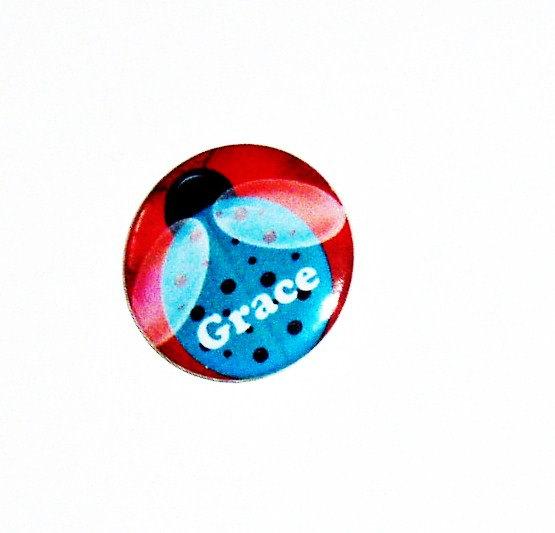 Pinback button badges - Ladybug name badges - 3 sizes