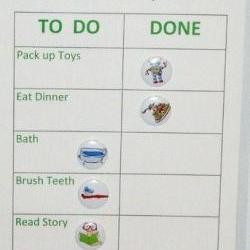 Boys bedtime routine rewards chart with magnets