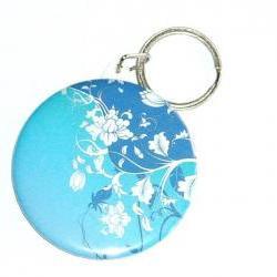 Keychain - Blue floral