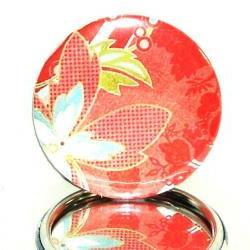 Pocket mirror Red Floral pocket mirror