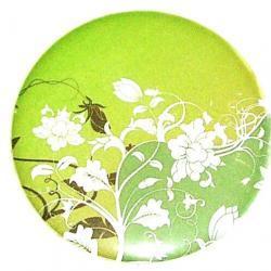 Pocket mirror - Green Floral Pocket Mirror