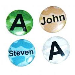 Pinback button badges - Camo name badges - 3 sizes